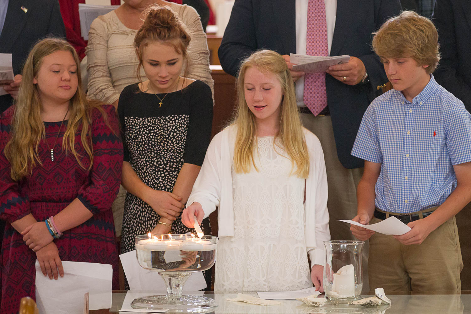 Confirmation Sunday lighting candles